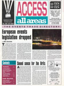 The first issue of Access in Spring 1994