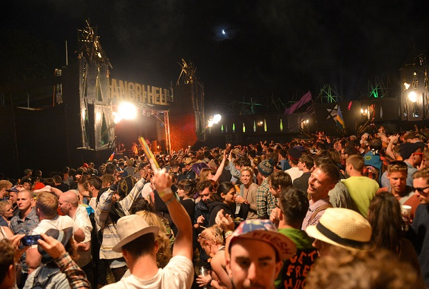 The Destroyers perform on the Hell stage at Shangri-La following the final day of the Glastonbury 2013 Festival of Contemporary Performing Arts at Pilton Farm, Somerset.