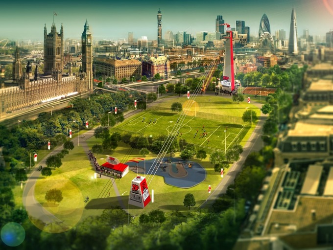 Skyline zip line launches in London